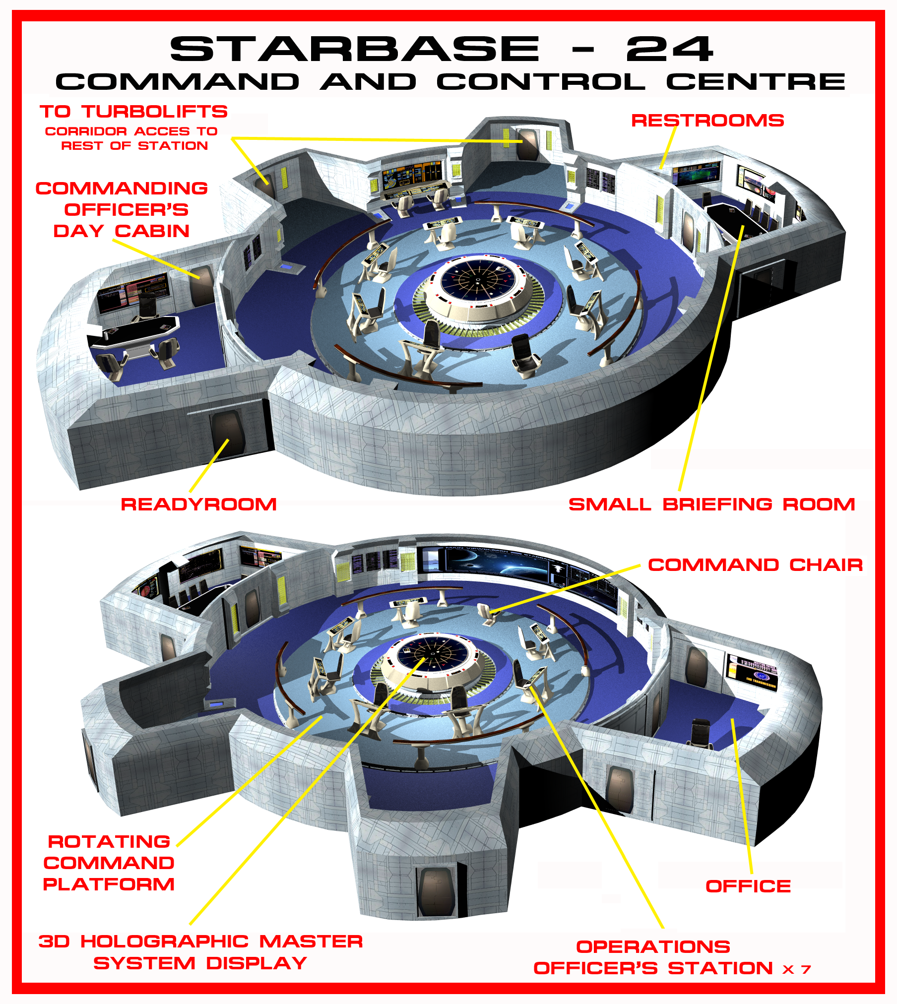 Schematics Star Trek Engineering 001 010 Comms Array Sensor Arrays Primary Reactors